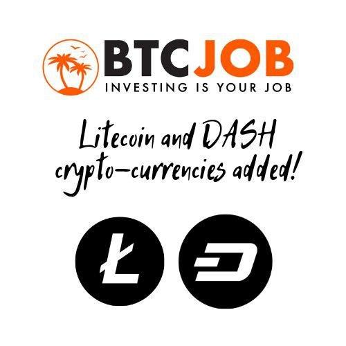 помощью, осуществлять, популярных, криптовалют, Litecoin, можно, средств, отличные, BtcJob, новости, Теперь, вывод, проекте