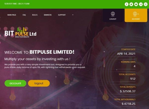 bitpulse.cc, bitpulse cc, обзор, отзывы, инвестиции, вложения, хайп, страховка, рефбек, рефбэк, hyip, rcb